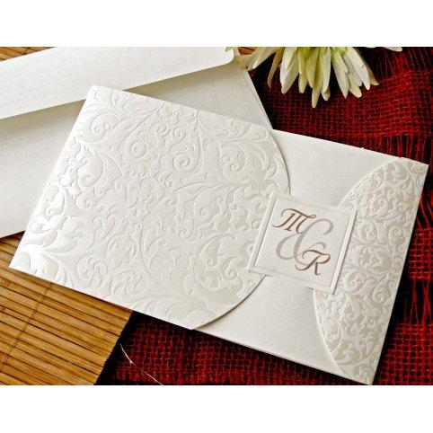 Invitación de boda iniciales, Cardnovel 32720