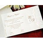 Invitación de boda iniciales, Cardnovel 32720 texto