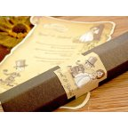 Wedding Invitation Scroll Bridesmamino, Cardnovel 32732 Box
