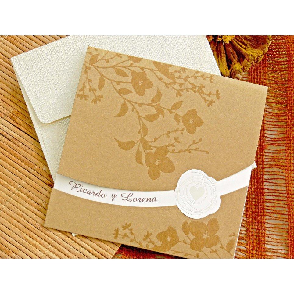 Invito a nozze floreale glitterato, Cardnovel 32753