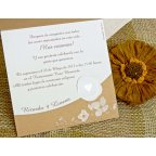 Invitación de boda flores en brillo, Cardnovel 32753 texto