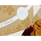 Invito a nozze con fiori glitterati, dettaglio Cardnovel 32753