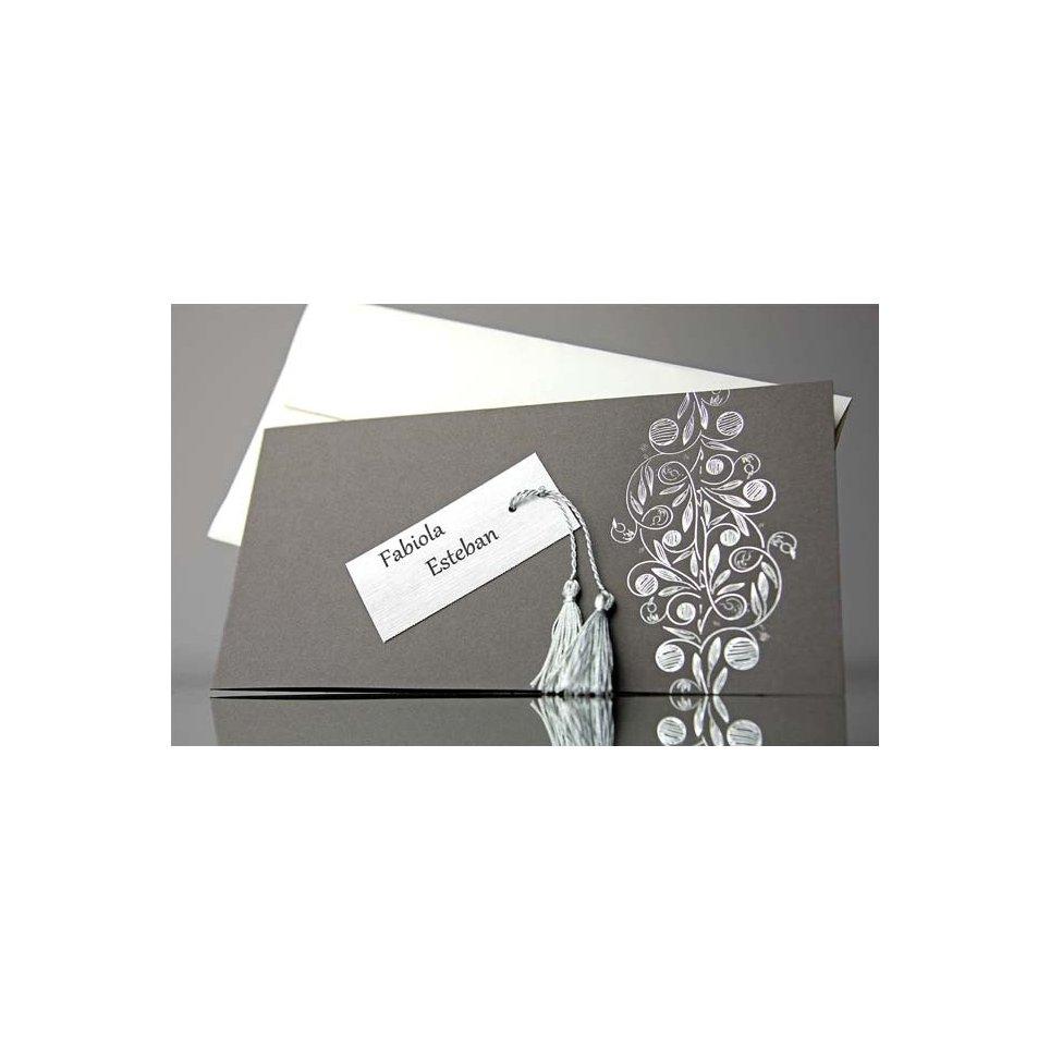 Invitación de boda borla y tarjeta, Cardnovel 34920
