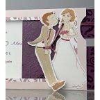Hochzeitseinladung gebundener Bräutigam, Cardnovel 34932 Detail