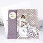 Invitación de boda coche recién casados, Cardnovel 39218