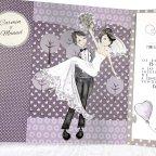 Hochzeitseinladung gerade verheiratetes Auto, Cardnovel 39218 Braut und Bräutigam