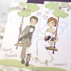 Hochzeitseinladung Braut und Bräutigam mit Kindern, Cardnovel 39124 Detail