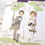 Wedding invitation boyfriends with children, Cardnovel 39124 detail