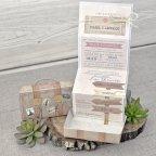 Reisekoffer Hochzeitseinladung, Cardnovel 39339 entfaltet