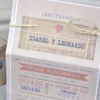 Invitación de boda maleta de viaje, Cardnovel 39339 detalle