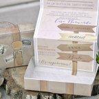 Invitación de boda maleta de viaje, Cardnovel 39339 texto