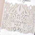 Embossed Rose Wedding Invitation, Cardnovel 39328 detail