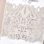 Invitación de boda rosas en relieve, Cardnovel 39328 detalle