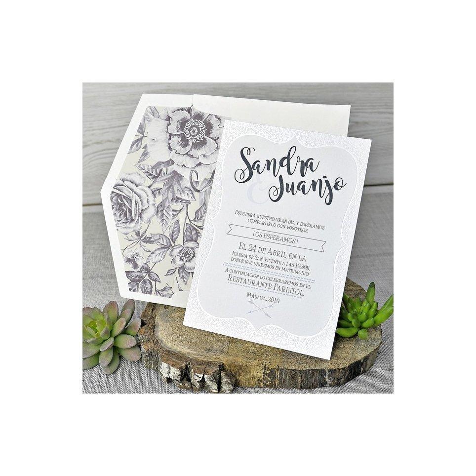 Bracket Relief Hochzeitseinladung, Cardnovel 39318