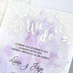 Invitación de boda acuarela, Cardnovel 39304 detalle