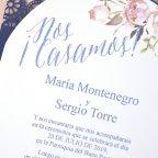 Invitación de boda blonda de encaje, Cardnovel 39326 texto