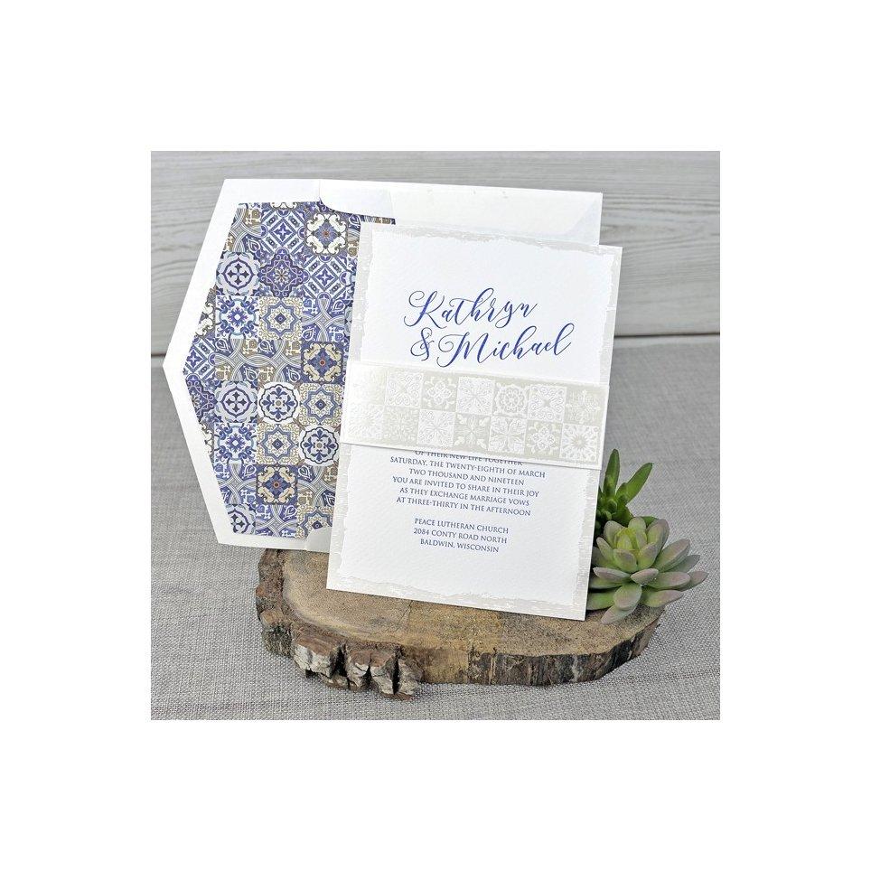 Invitación de boda mosaicos, Cardnovel 39317