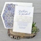 Mosaik Hochzeitseinladung, Cardnovel 39317