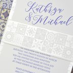 Invitación de boda mosaicos, Cardnovel 39317 banda