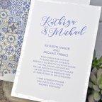 Invitación de boda mosaicos, Cardnovel 39317 texto