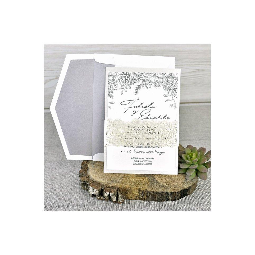 Perle Hochzeitseinladung, Cardnovel 39337