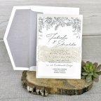 Invitación de boda perlada, Cardnovel 39337