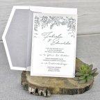 Invitación de boda perlada, Cardnovel 39337 sin banda