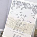 Invitación de boda perlada, Cardnovel 39337 texto