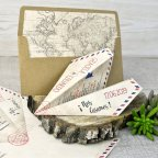 Paper Airplane Wedding Invitation, Cardnovel 39333