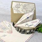 Invitación de boda avión de papel, Cardnovel 39333 completa