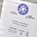 Invitación de boda brújula, Cardnovel 39306 detalle