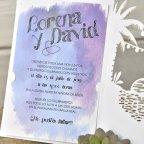 Invitación de boda playera, Cardnovel 39335 texto