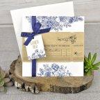 Invitación de boda boarding pass, Cardnovel 39325