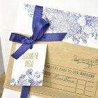 Carta d'imbarco per invito a nozze, Cardnovel card 39325