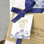 Invitación de boda boarding pass, Cardnovel 39325 detalle