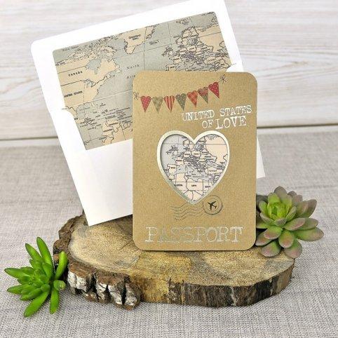 Invitación de boda pasaporte, Cardnovel 39315