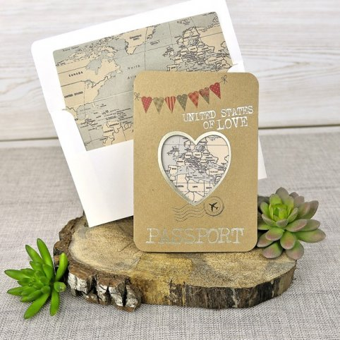 Passport Wedding Invitation, Cardnovel 39315