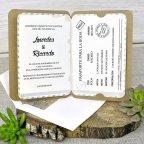 Invitación de boda pasaporte, Cardnovel 39315 abierta