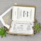 Invitación de boda pasaporte, Cardnovel 39315 horizontal