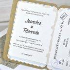 Invitación de boda pasaporte, Cardnovel 39315 detalle