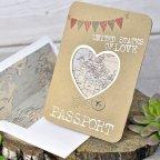 Invitación de boda pasaporte, Cardnovel 39315 exterior