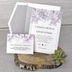 Invito a nozze in rilievo con cespuglio di rose, Cardnovel 39320 completo