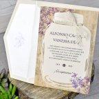Blumenglas Hochzeitseinladung, Cardnovel 39319