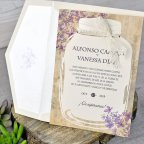 Invito a nozze in vaso di fiori, Cardnovel 39319