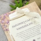 Invitación de boda tarro florido, Cardnovel 39319 texto