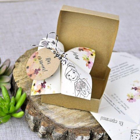 Pipas de papel de convite de casamento, Cardnovel 39310