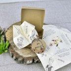 Invitación de boda comecocos de papel, Cardnovel 39310 completa