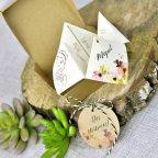 Papierdrachenhochzeitseinladung, Detail Cardnovel 39310