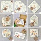 Invitación de boda comecocos de papel, Cardnovel 39310 montaje