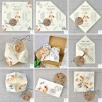 Paper Comecoco Wedding Invitation, Cardnovel 39310 Montage